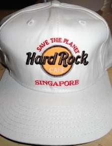 Hard Rock Cafe SINGAPORE WHITE Baseball HAT STP SAVE THE PLANET Logo