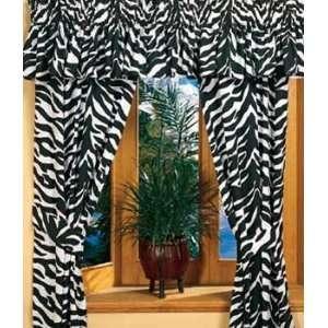 Kimlor Black & White Zebra Curtain Panels