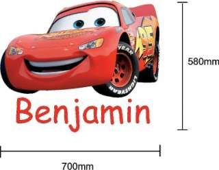 Disney Cars LIGHTNING McQUEEN Vinyl Wall Sticker Decal