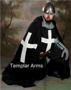 MEDIEVAL BLACK KNIGHT TUNIC   Latin X   SCA LARP