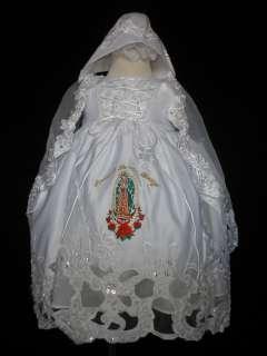 & Toddler Christening Baptism Formal Dress White Size 0 18 M