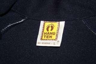 vtg 80s HANG TEN 2 tone track jacket * SURF surfer WARMUP