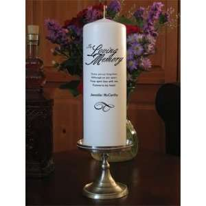 Personalized In Loving Memory Memorial Remembrance Candle