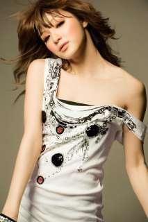 NEW Korea Fashion Sequins Cotton Vest Long Dress