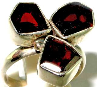 Latest collection Wonderful garnet .925 Silver Ring size 7