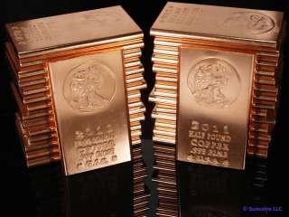 2011 Walking Liberty .999 Fine Copper Bullion Bars 8 Oz