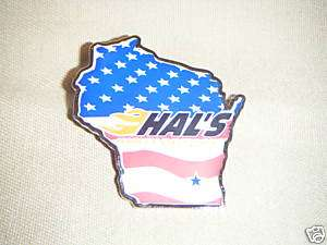 Custom Hals Harley Davidson Red White & Blue Logo Pin