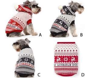 Cute Pet Supplies Dog Cat Winter Fancy Cloth Sweater Dress Costume 1/2