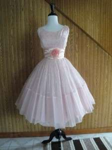 chiffon Party Dress S Wedding Prom Silver Full Skirt EUC Small