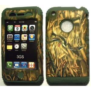 Camo Ducks on Sage Silicone for Apple iPhone 3G 3GS Hybrid