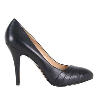 Nine West Womens Shoes Quircky Black Heels Leather
