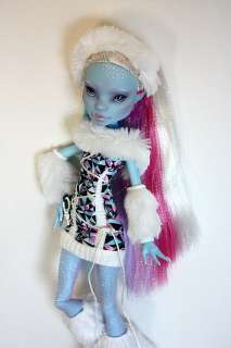 Monster High Doll Abbey Bominable Repaint Custom OOAK