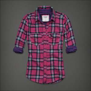 Abercrombie & Fitch Womens Carter Plaid Shirt L NWT