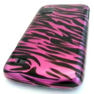 NEW ZTE N860 Warp Pink Zebra Design Gloss Smooth Case Skin