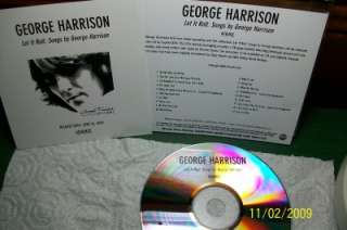 George Harrison / Beatles Let It Roll Advanced Promo cd