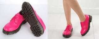 Womens Plain Lace Up Low Boots US 6~8.5 / 7 Colors