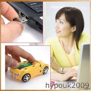 NEW OPTICAL LAPTOP WIRELESS CAR MOUSE PC FOR WINDOWS 7