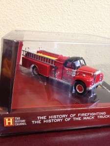 Corgi Mack B Series Closed Cab Pumper FIRE Truck History Channel