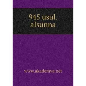945 usul.alsunna www.akademya.net Books