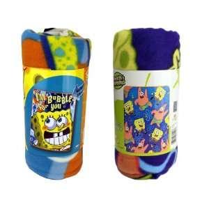 Nickelodeon Spongebob Squarepants Light Weight Fleece Blanket Throw
