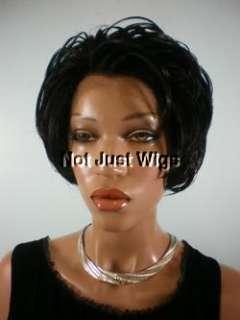 FRENCH LACE FRONT CENTER PART SYNTHETIC WIG WAVY SHORT