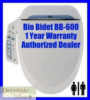 ROUND Electronic Heated Water Toilet Seat Jet Wash Hygiene New