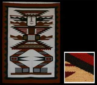 Andean Handwoven Inca Warrior Tapestry (Ecuador) 0