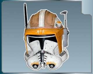 Star Wars COMMANDER CODY HELMET vinyl decal sticker