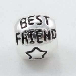 E23 Silver Best Friend Charm .925 Sterling Silver Best Friend Charm