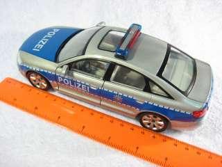 Audi A6 Police Cararama Diecast Car Model 124 1/24