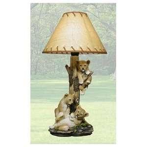 Cub Table Lamp Light Safari Animal Kids Room Decor