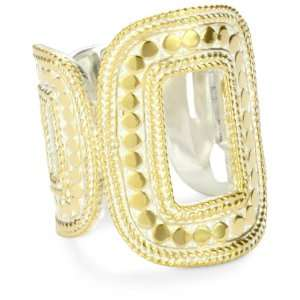 Anna Beck Designs Gili Open Square 18k Gold Plated Ring, Size 8