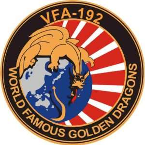 US Navy VFA 192 World Famous Golden Dragons Squadron Decal Sticker 5.5