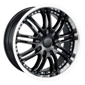 20x8.5 Sacchi S95 (295) (Black w/ Machined Lip) Wheels/Rims 6x135/139