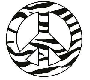 Zebra Peace Sign Car Decal Vinyl Sticker Animal Print