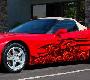 CAR VINYL GRAPHICS SKELETON SCULPT WRAP CORVETTE 050
