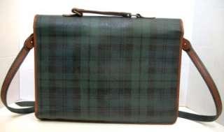 Vintage Polo Ralph Lauren Plaid Messenger Bag Briefcase Blackwatch