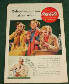 Vintage Coke Coca Cola Soda Fountain 1937 Ad Nat Geo