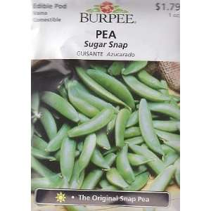 Burpee Sugar Snap Pea   225 Seeds Patio, Lawn & Garden