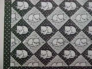 Vintage Quilt Pattern Asleep Kitten Kitty Cat Applique