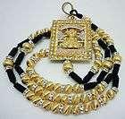 rosario sinaloense, oro laminado, WOOD WALL ROSARY ROSARIO DE MADERA