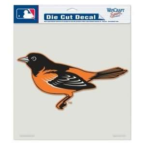 Baltimore Orioles Die Cut Decal   8x8 Color Sports