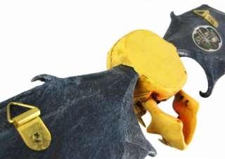 Wall Mounted Bat Winged Vampire Skull Key Holder