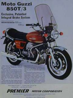 MOTO GUZZI 850T/3 Original Motorcycle Ad 1977 850 T3