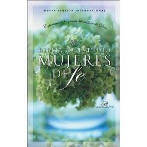 NVI Biblia de estudio mujeres de fe, tapa dura (Spanish