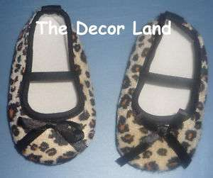 SOFT CRIB SHOES Brown Cheetah Baby infant Girl 0 3 months Boutique