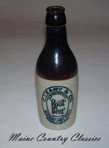 Antique STONEWARE ROOT BEER BOTTLE Newburyport Mass.