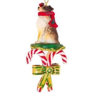 Australian Shepherd Dogs Candy Cane Christmas Ornament New