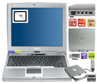You are bidding on Used Dell latitude D400 PM 1800 MHz/1Gb RAM/20Gb