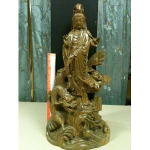 Quan Yin Carved Wooden Statue: Everything Else